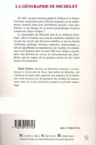 4eme La géographie de Michelet