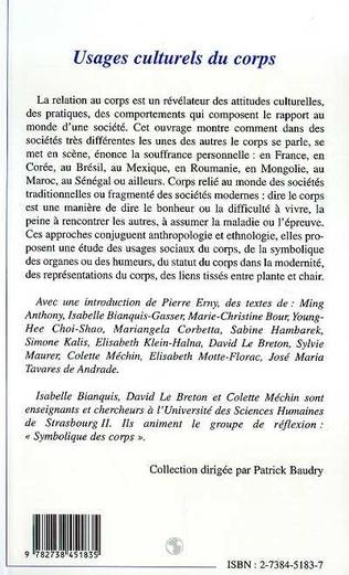 4eme USAGES CULTURELS DU CORPS