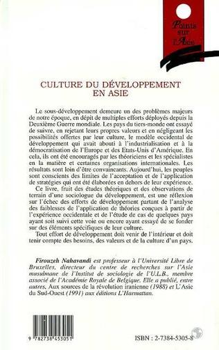 4eme Culture du développement en Asie