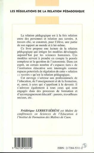 4eme LES REGULATIONS DE LA RELATION PEDAGOGIQUE