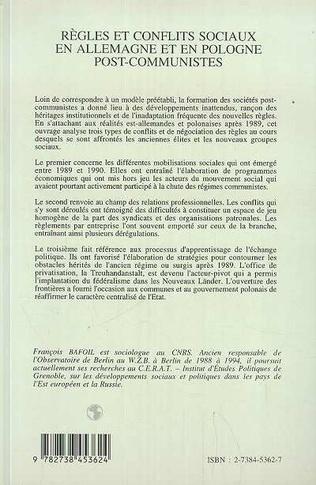 4eme Règles et conflits sociaux en Allemagne et en Pologne post-communiste