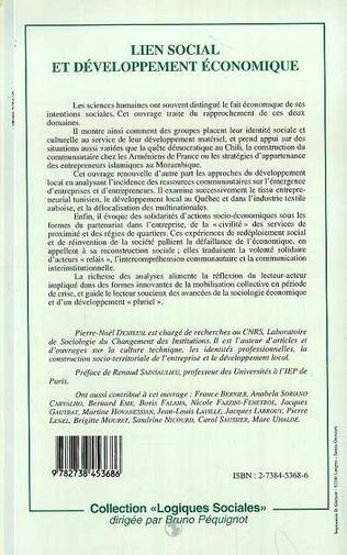 4eme Lien social et développement économique