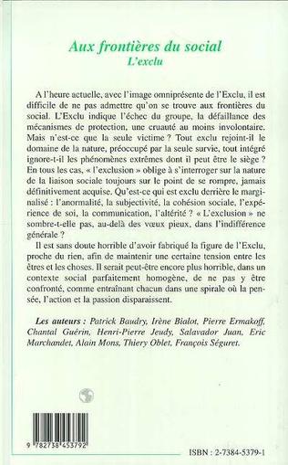 4eme AUX FRONTIÈRES DU SOCIAL