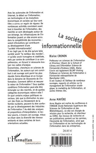 4eme LA SOCIETE INFORMATIONNELLE : ENJEUX SOCIAUX ET APPROCHES ECONOMIQUES