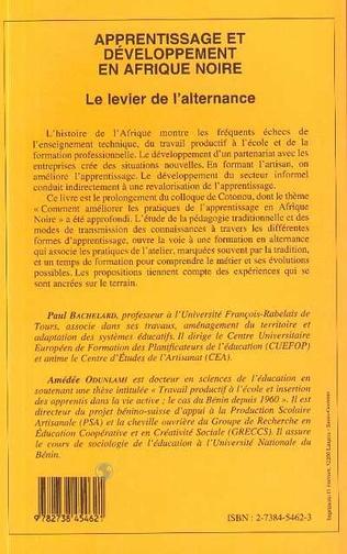 4eme APPRENTISSAGE ET DÉVELOPPEMENT EN AFRIQUE NOIRE