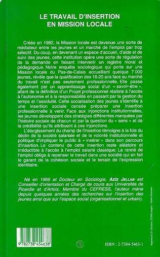 4eme LE TRAVAIL D'INSERTION EN MISSION LOCALE