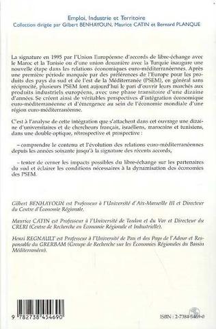 4eme L'Europe et la méditerranée: intégration économique et libre-échange