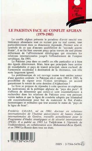 4eme Le Pakistan face au conflit afghan (1979-1985): Au tournant de la guerre froide