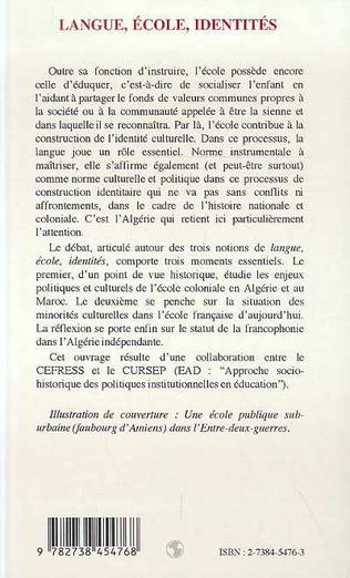 4eme LANGUE, ÉCOLE, IDENTITÉS