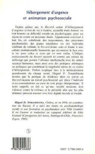 4eme HÉBERGEMENT D'URGENCE ET ANIMATION PSYCHOSOCIALE