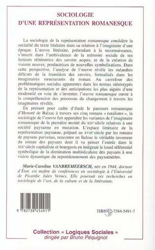 4eme Sociologie d'une représentation romanesque