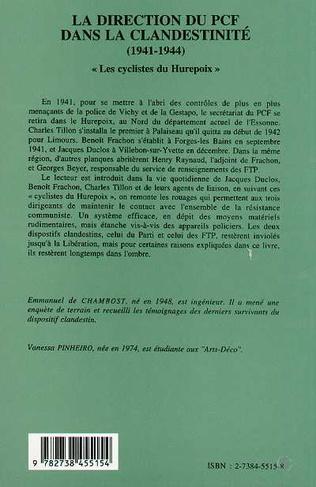 4eme La direction du PCF dans la clandestinité (1941-1944)