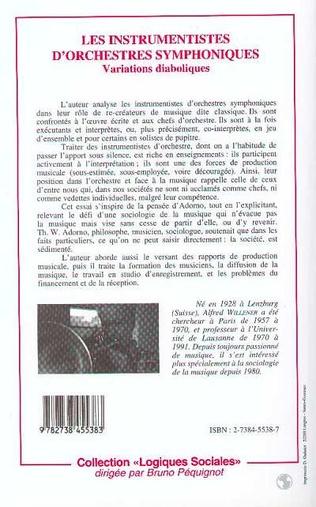 4eme Les instrumentistes d'orchestres symphoniques