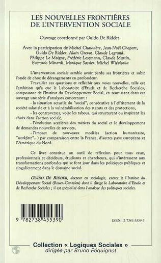 4eme LES NOUVELLES FRONTIÈRES DE L'INTERVENTION SOCIALE
