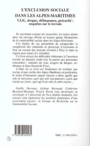 4eme L'EXCLUSION SOCIALE DANS LES ALPES-MARITIMES
