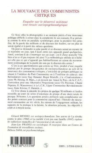 4eme LA MOUVANCE DES COMMUNISTES CRITIQUES
