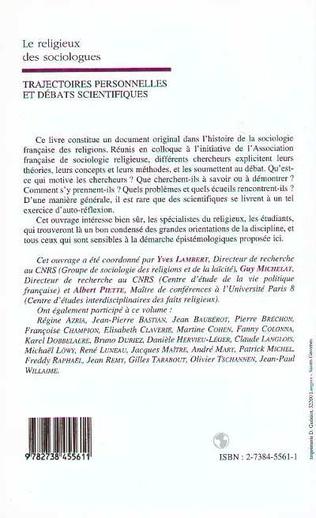 4eme LE RELIGIEUX DES SOCIOLOGUES