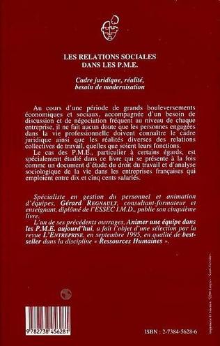 4eme Les relations sociales dans les P.M.E.