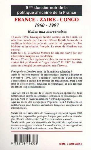 4eme FRANCE-ZAÏRE-CONGO 1960-1997