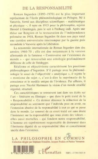 4eme RESPONSABILITE (DE LA)