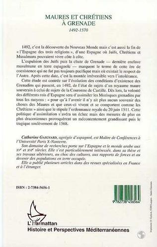 4eme Maures et chrétiens à Grenade 1492-1570
