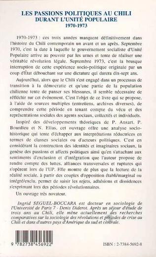 4eme Les passions politiques au Chili durant l'Unité populaire 1970-1973
