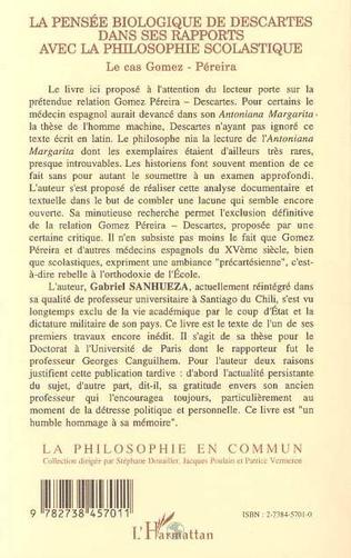 4eme La pensée biologique de Descartes dans se rapports avec la p