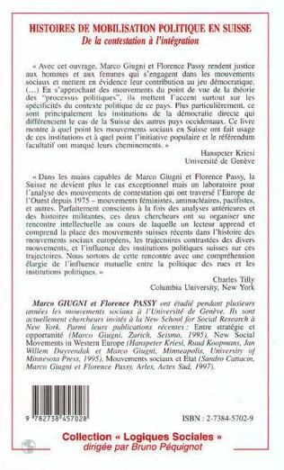 4eme Histoire de mobilisation politique en Suisse