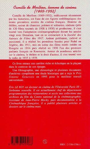 4eme Camille de Morlhon, homme de cinéma (1869-1952)