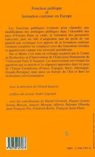 4eme Fonction publique et formation continue en Europe
