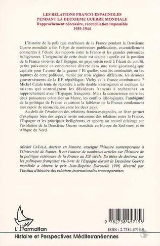4eme Les relations franco-espagnoles pendant la Deuxième Mondiale