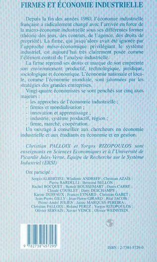 4eme Firmes et économie industrielle