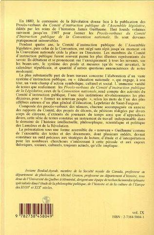 4eme Proces-Verbaux du Comite d'instruction Publique de la Convention Nationale