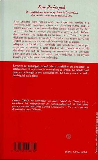 4eme SAM PECKINPAH, UN REALISATEUR DANS LE SYSTEME HOLLYWOODIEN DES ANNEES SOIXANTE ET SOIXANTE-DIX