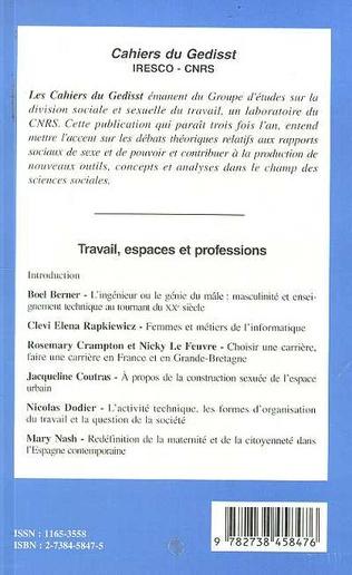 4eme Travail, espaces et professions