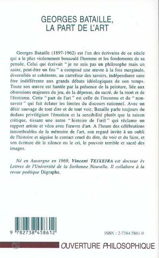 4eme Georges Bataille, la part de l'art