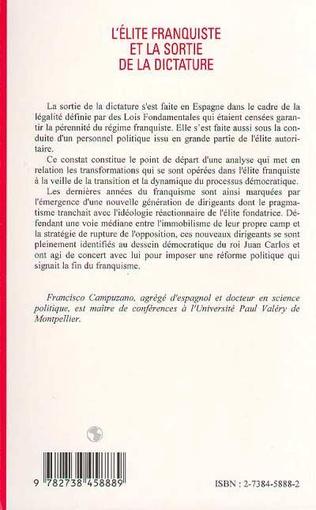 4eme L'ELITE FRANQUISTE ET LA SORTIE DE LA DICTATURE