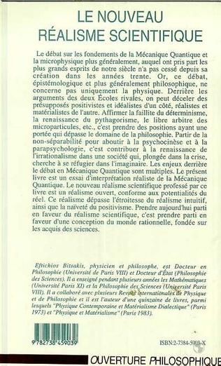 4eme LE NOUVEAU REALISME SCIENTIFIQUE