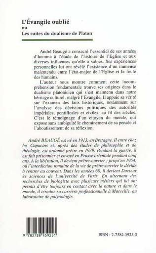 4eme L'EVANGILE OUBLIE OU LES SUITES DU DUALISME DE PLATON
