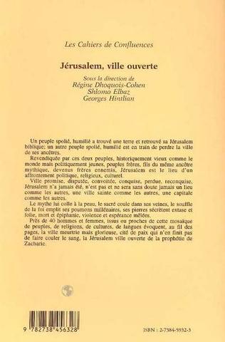 4eme Jérusalem, ville ouverte