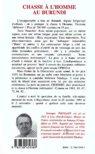 4eme Chasse à l'homme au Burundi