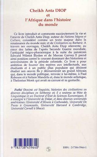 4eme Cheikh Anta Diop et l'Afrique dans l'histoire du monde