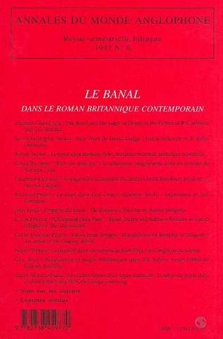 4eme Le banal dans le roman britannique contemporain