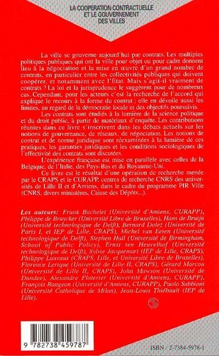 4eme La coopération contractuelle et le gouvernement des villes
