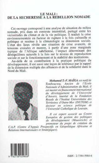 4eme LE MALI : DE LA SECHERESSE A LA REBELLION NOMADE