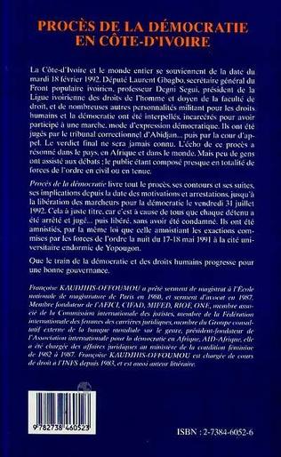 4eme Procès de la Démocratie en Côte d'ivoire