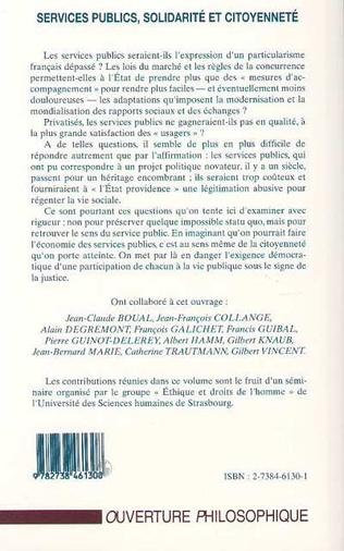 4eme Services Publics, Solidarité et Citoyenneté