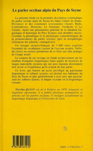4eme Le Parler Occitan Alpin du Pays de Seyne