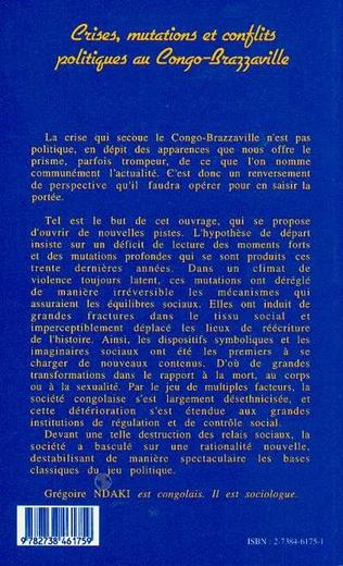 4eme Crises, Mutations et Conflits Politiques au Congo-Brazzaville