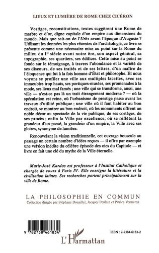 4eme Lieux et lumière de Rome chez Ciceron